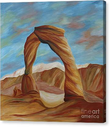 Canvas Print featuring the painting Delicate Arch Iv by Christiane Schulze Art And Photography