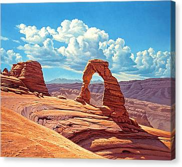 Delicate Arch Canvas Print by Paul Krapf