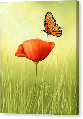 Delicate Friendship Canvas Print by Veronica Minozzi