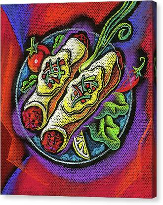 Delicious Anchilada Canvas Print by Leon Zernitsky