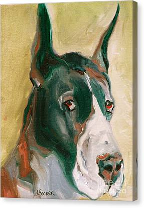 Delicious Dane Canvas Print by Susan A Becker