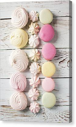 Delicious Macaroons And Merengues  Canvas Print by Vadim Goodwill