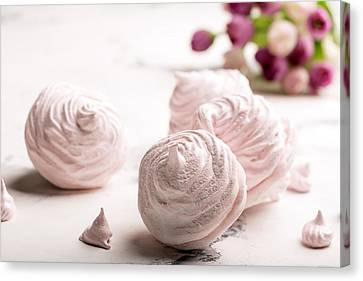 Delicious Merengue On The Light Table Canvas Print by Vadim Goodwill