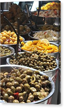 Delicious Olives Canvas Print