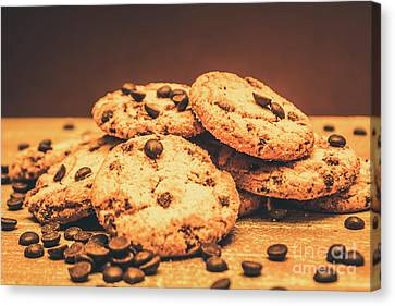 Brown Tones Canvas Print - Delicious Sweet Baked Biscuits  by Jorgo Photography - Wall Art Gallery