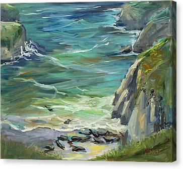 China Cove Canvas Print - Delights Of Spring, Plein Air by Marie Massey