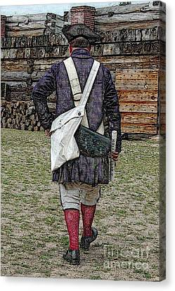 Delivering The Declaration  Canvas Print by Diane E Berry