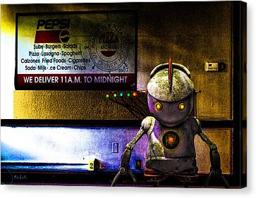 Delivery Bot Canvas Print by Bob Orsillo