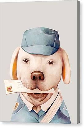 Delivery Dog Canvas Print by Animal Crew