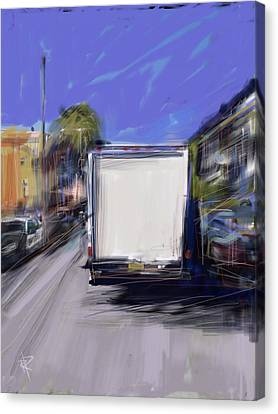 Delivery Canvas Print by Russell Pierce