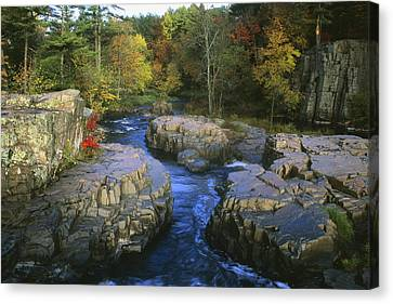 Dells Of The Eau Claire Canvas Print by Peter Skiba