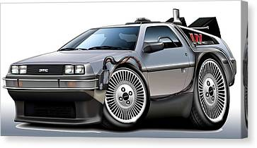 Delorean Back To The Future Canvas Print by Maddmax