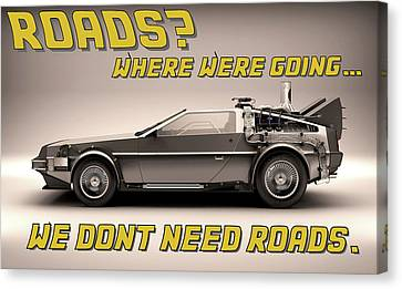 Delorean Roads Canvas Print by Kyle J West