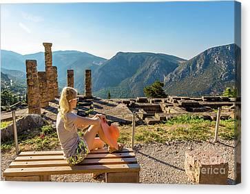 Delphi Greece Canvas Print by Benny Marty