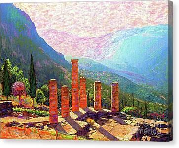 Ruin Canvas Print - Delphi Magic by Jane Small