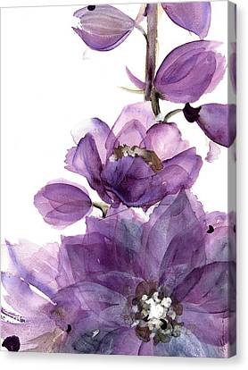 Delphinium Canvas Print by Dawn Derman