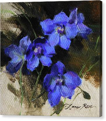 Delphinium I Canvas Print by Anna Rose Bain