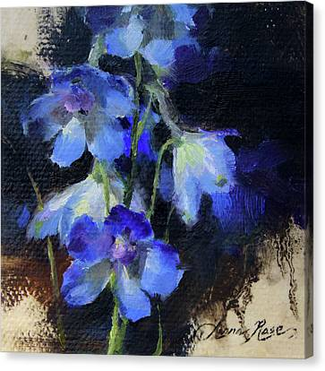 Delphinium II Canvas Print by Anna Rose Bain