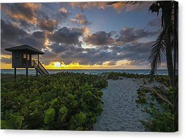 Delray Beach Lifeguard Tower Canvas Print by Juergen Roth