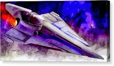 Delta-12 Skysprite  - Free Style -  - Da Canvas Print by Leonardo Digenio