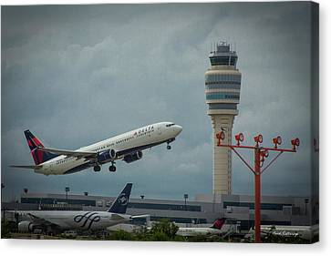Klm Canvas Print - Delta Airlines Airplane N835dn Hartsfield Jackson Atlanta International Airport Art by Reid Callaway