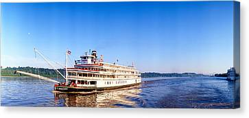 Delta Queen Steamboat On Mississippi Canvas Print