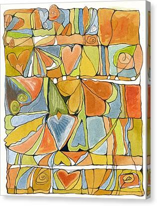 Delusions Of The Heart Canvas Print by Linda Kay Thomas
