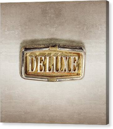 Deluxe Chrome Emblem Canvas Print by YoPedro