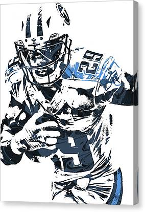 Demarco Murray Tennessee Titans Pixel Art Canvas Print by Joe Hamilton