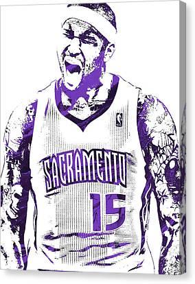 Demarcus Cousins Sacramento Kings Pixel Art 2 Canvas Print by Joe Hamilton