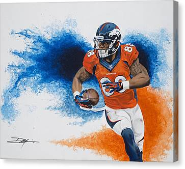 Demaryius Thomas Canvas Print by Don Medina