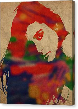 Actress Canvas Print - Demi Moore Watercolor Portrait by Design Turnpike