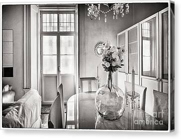 Canvas Print featuring the photograph Demijohn And Window Cadiz Spain by Pablo Avanzini