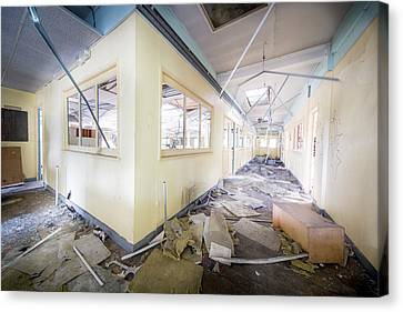 Demolished Office - Abandoned Building Canvas Print by Dirk Ercken