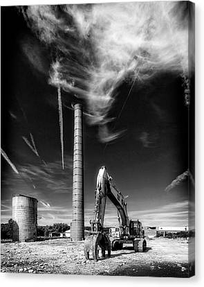 Canvas Print featuring the photograph Demolition Sky by Alan Raasch