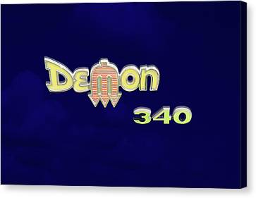 Demon 340 Emblem Canvas Print by Mike McGlothlen