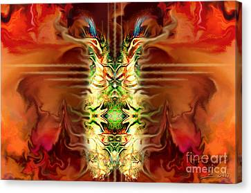 Demon Column By Spano Canvas Print by Michael Spano