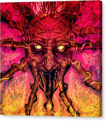 Canvas Print featuring the painting Demon by David Mckinney