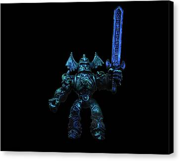 Canvas Print featuring the photograph Demon Knight by Mark Blauhoefer
