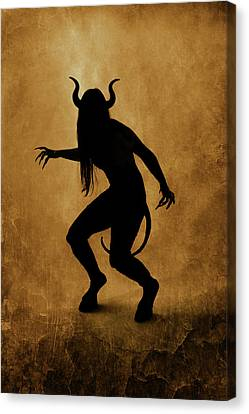 Demon Silhouette Canvas Print by Cambion Art