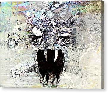 Abstract Digital Canvas Print - Demon Under The Bed by Robert Ball