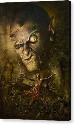 Demonic Evocation Canvas Print