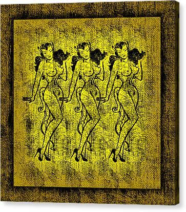 Booze Canvas Print - Demonios De Oro by Tiki Bender