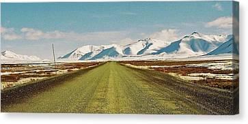 Dempster Highway - Yukon Canvas Print by Juergen Weiss