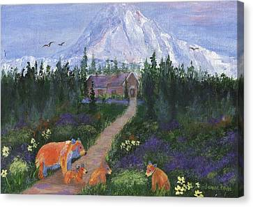 Canvas Print featuring the painting Denali by Jamie Frier