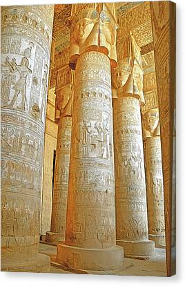 Dendera Temple Canvas Print by Nigel Fletcher-Jones