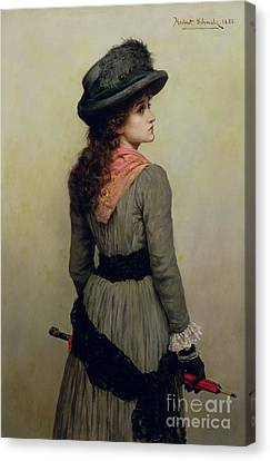 Denise Canvas Print by Herbert Schmalz