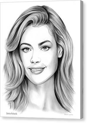 Denise Richards Canvas Print by Greg Joens