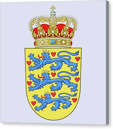 Denmark Coat Of Arms Canvas Print by Movie Poster Prints