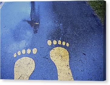 Denmark, Copenhagen Feet In The Street Canvas Print by Keenpress